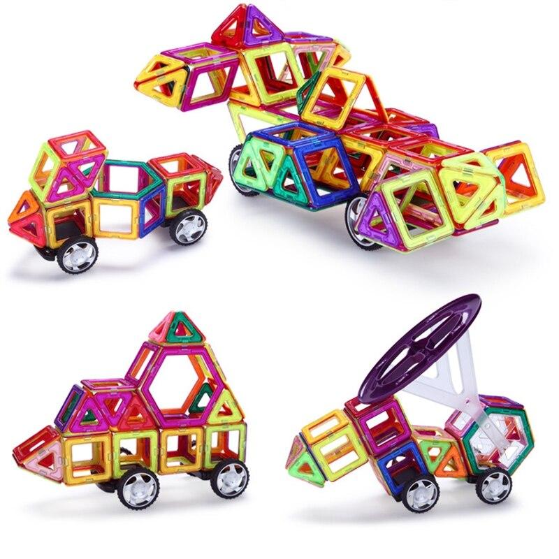 Oyuncaklar ve Hobi Ürünleri'ten Bloklar'de 147 adet Standart Boyut Manyetik Oyuncak Çocuk Eğitici Oyuncaklar ABS Plastik Yaratıcı Tuğla Manyetik Yapı Taşları Çocuklar için Hediye'da  Grup 2