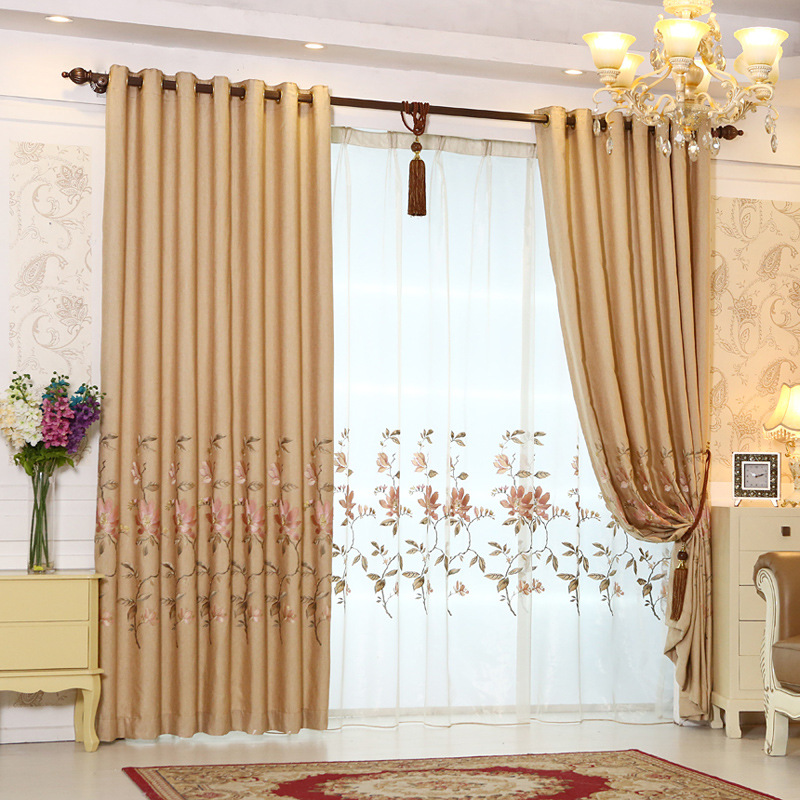 Luxury curtains european style living room high quality - European style curtains for living room ...