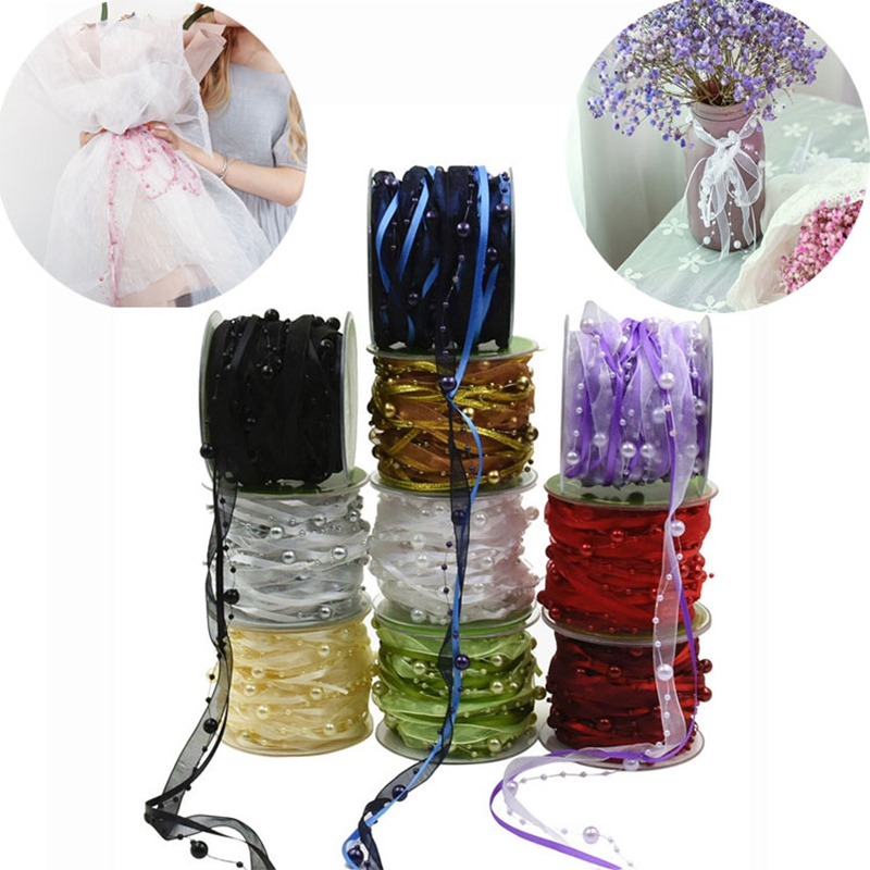 10Meter/Roll silk Grosgrain satin ribbon for crafts Christmas bouquet wedding Decoration DIY Ribbon Gifts Card Wrapping Supplies