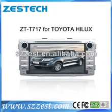 ZESTECH 2 Din Touch scren car dvd radio player for Toyota Hilux gps navigation system,bluetooth,tv,ipod,wheel control function