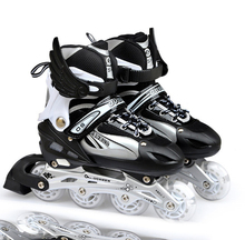 1 Pair ProAdjustable Adult Sliding/Slalom Inline Skates Shoes Roller Skating Shoes Roller Skate Shoes With Shinning Wheel
