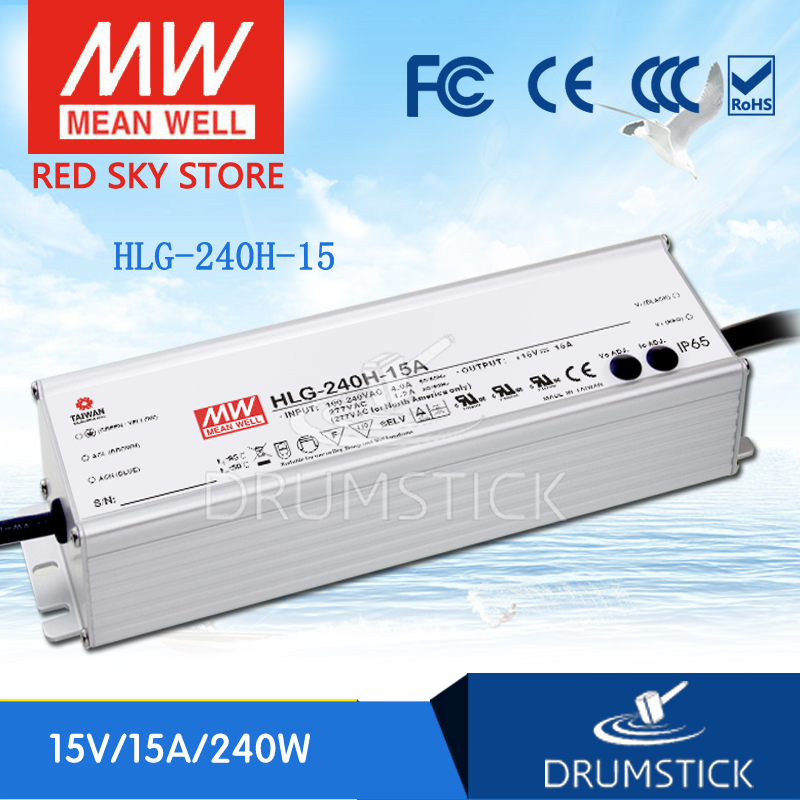 Фотография MEAN WELL HLG-240H-15 15V 15A meanwell HLG-240H 15V 225W Single Output LED Driver Power Supply