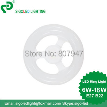 Free Ship -6W 12W 18W E27/B22 LED Circular Tube LED circle light LED Ring lamp LED Ring lights, REPLACE FOR fluorescent tube 365 wavelength purple microscope fluorescent light microscope led ring 60mm light source led lamp fluorescent tube working lamp