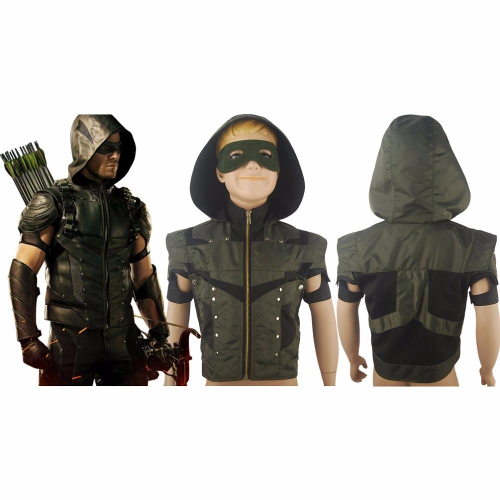 Green Arrow Season 4 Oliver Queen Men Hoodie Jacket Halloween Comic-con Cosplay Costume