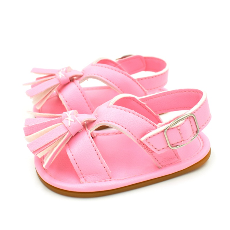 Weixinbuy Baby Girl's Fish Mouth Non-Slip First Walking Shoes Princess Sandals Summer U9uFEeGZFy