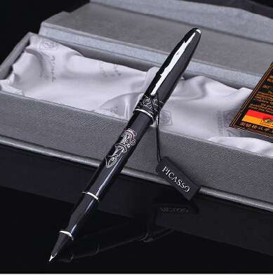 black real Picasso 606 Fountain Pen business gift pen free shipping school and office Writing Supplies send teacher student real picasso 926 fountain pen business gift pens free shipping school and office writing supplies send teacher father friend 002
