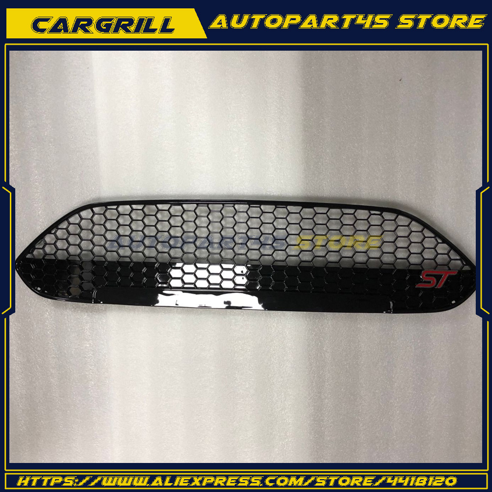 Honeycomb Front Grille Upper Grill ST Style For 2013 2014 2015 2016 Ford Fiesta цена