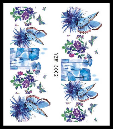1 шт. летний слайдер Набор наклеек для ногтей 18 различных конструкций бабочка перо полный/наклейки своими руками водные ногти