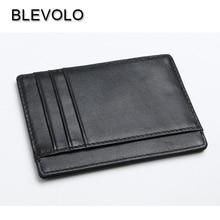 BLEVOLO RFID новая карточная посылка из натуральной кожи тонкий кошелек мужской квадратный держатель для карт мини леди фото карта чехол ID Обложка Деньги сумки
