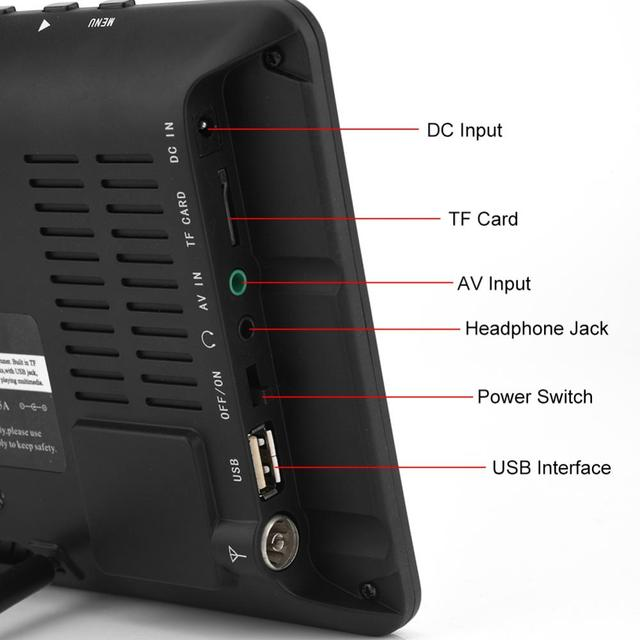 TV Color reproductor de televisión para el hogar coche para enchufe europeo