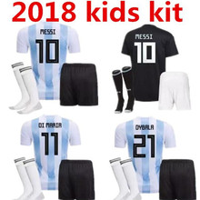 07d273334e4 18 19 T-shirt Camisa BOY Argentina KIDS KIT shirts 2018 2019 Leisure Best  Quality Argentina shirt Casual KIDS shirt