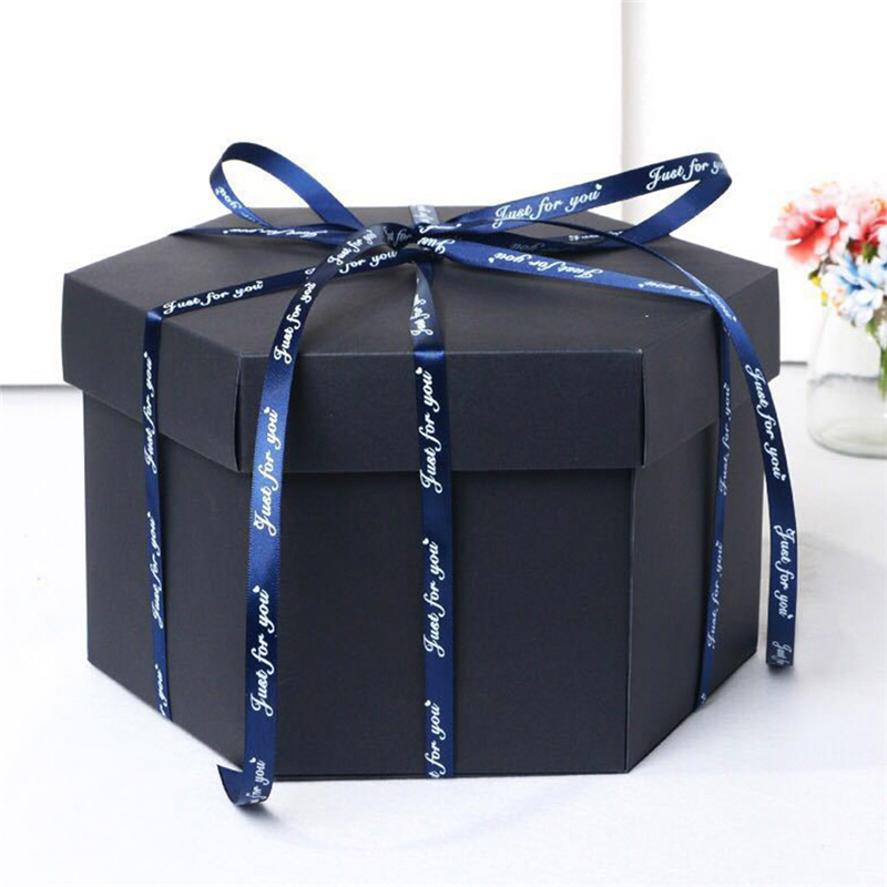 Hexagon Multilayer DIY Explosion Box Toys Anniversary Scrapbook DIY Photo Album Birthday Valentine's Day Wedding Surprise Gift