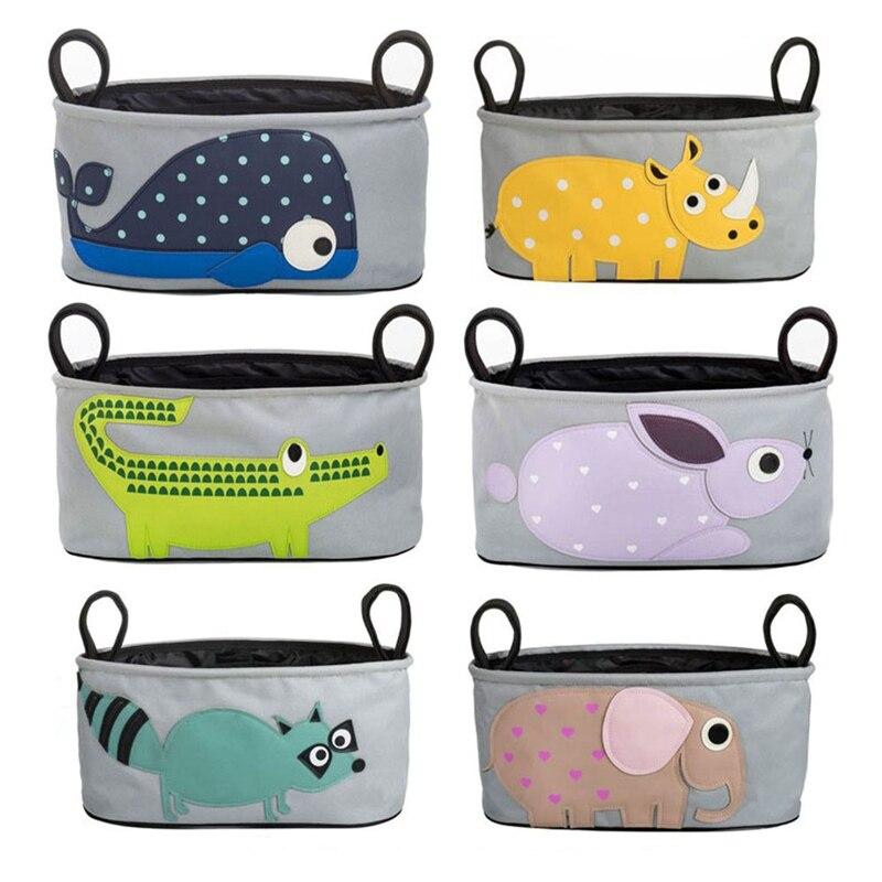 CYSINCOS Baby Stroller Organizer Bag Car Basket Hanging Storage Bag Pram Mummy Bag Buggy Organizer Animals Stroller Accessories