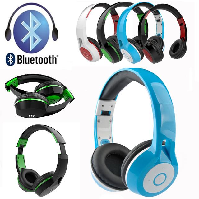 Sem fio bluetooth fone de ouvido fone de ouvido estéreo de graves profundos fone de ouvido headband handsfree mp3 player de música do fone de ouvido para iphone huawei