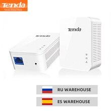 1 пара Tenda PH3 1000 Мбит/с powerline сетевой адаптер AV1000 Ethernet ПЛК адаптер Комплект гигабитный сетевой адаптер IPTV, подключи и играй