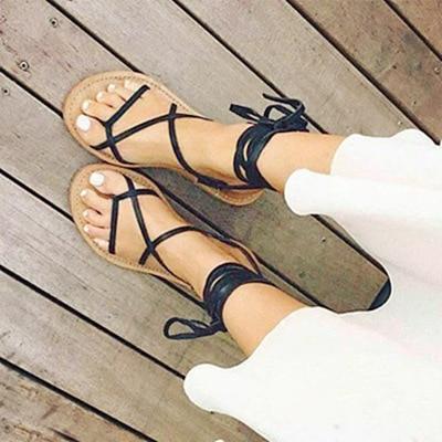 sapato feminino 2015 estilo de verano gladiador con cordones - Zapatos de mujer