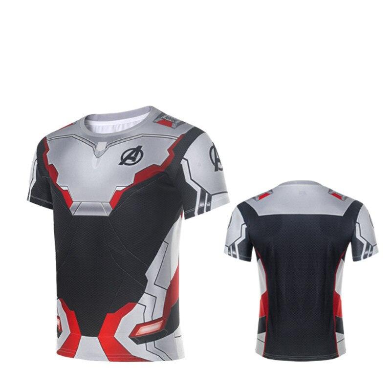 The Avengers 4 New Avengers Endgame Quantum Realm T-short Tee Man Advanced Tech Top Shirt 3D Printed Casual Shirt Cosplay S-5XL