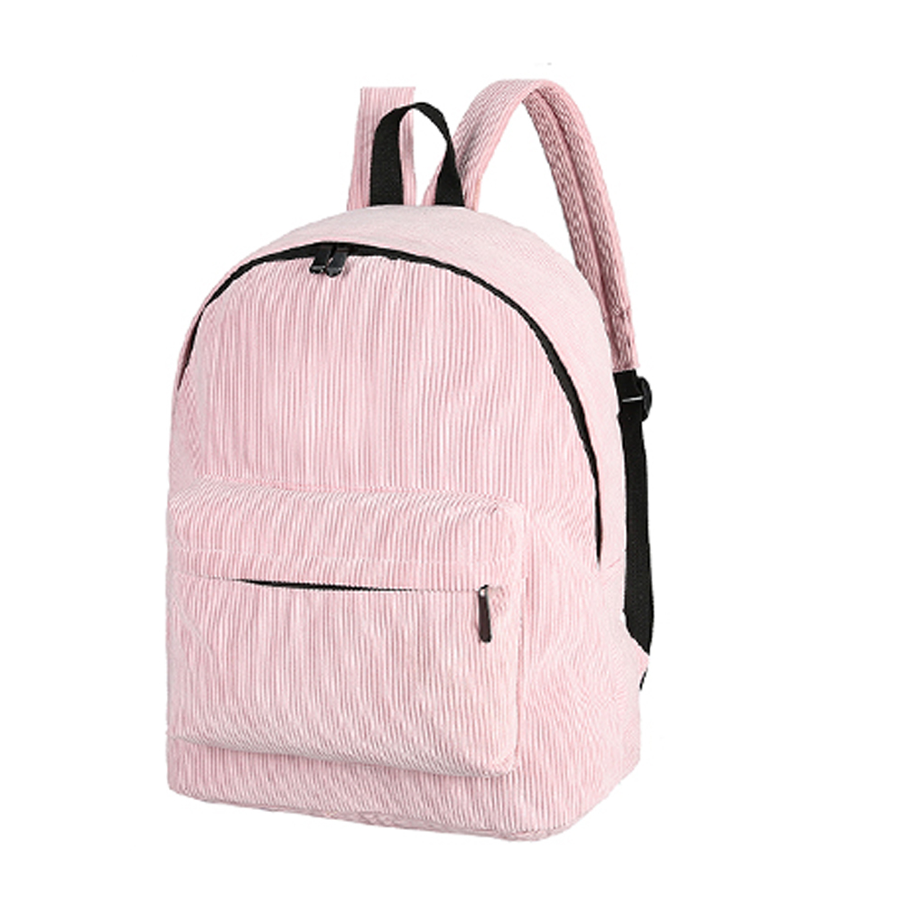 Vintage Unisex Corduroy Backpack Casual Preppy Chic  School Bags for Teenage Girls Women Backpack Rucksack Female Backpack corduroy goes to school
