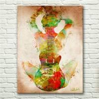 Sueño De la Música Colorida Abstracta Impresiones de la Lona Pintura Al Óleo Dormitorio Decoración de La Pared Impresiones De La Lona Lienzo De Pintura de Arte Hd0735