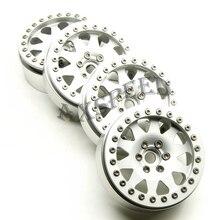 AXSPEED Silver 2.2 Alloy Wheel Rim 2.2inch Wheel Rims for 1/10 RC D90 SCX10 CC01 D110 Rock Crawler 2.2 wheels