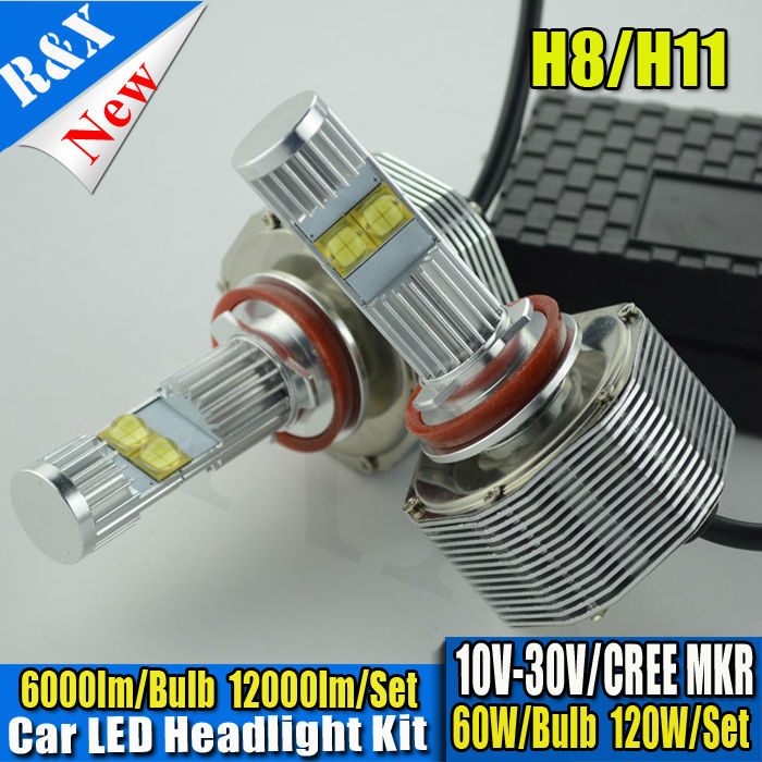 NEW DESIGN 1Set H8 H9 H11 Canbus CRE SMD LED 120W 12000LM 6000K XENON WHITE BULB REPLACEMENT DRL DAYTIME DRIVING FOG HEADLIGHT