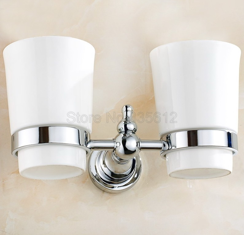 Polished Chrome Wall Mounted Toothbrush Holder Bathroom Accessories Wba908 image