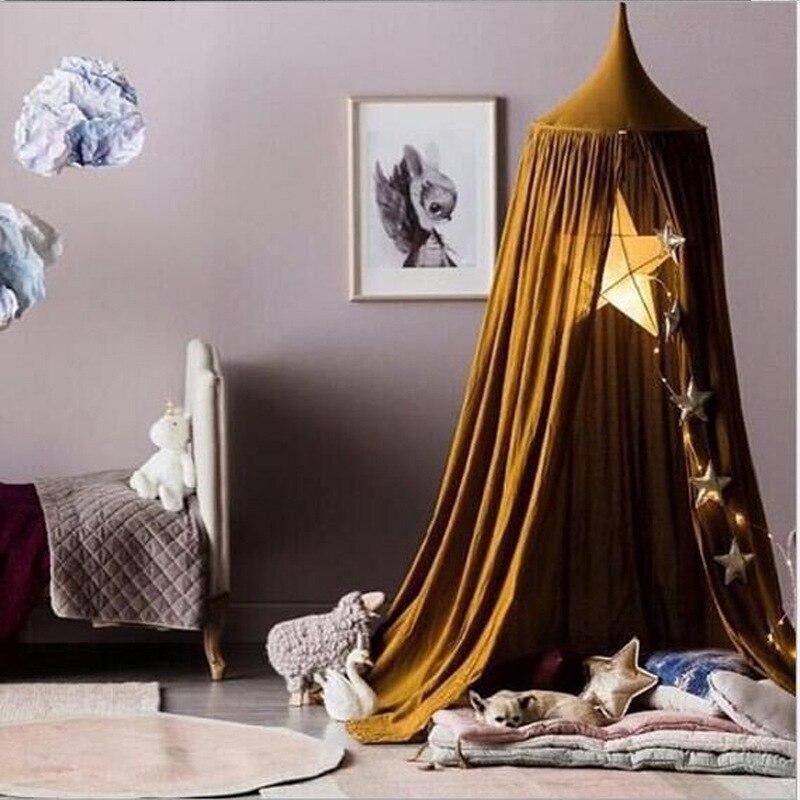 240 cm Kinder Spielen Zelt Prinzessin Zelt Für Kinder Spielhaus Baby Laufstall Indoor Infant Zimmer Dome Hängematte Zelt Bett Vorhang Zelt