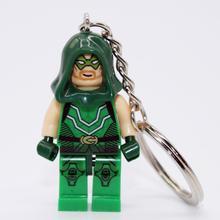 XINH041 Green Arrow Minifigure Marvel Super Heroes Minifigures Keychain Keychain DIY Handmade Building Blocks Sets Model Toys