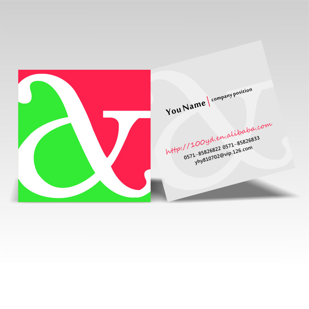 2016 Hot Designer Customized Square Business Cards Color Printing ...