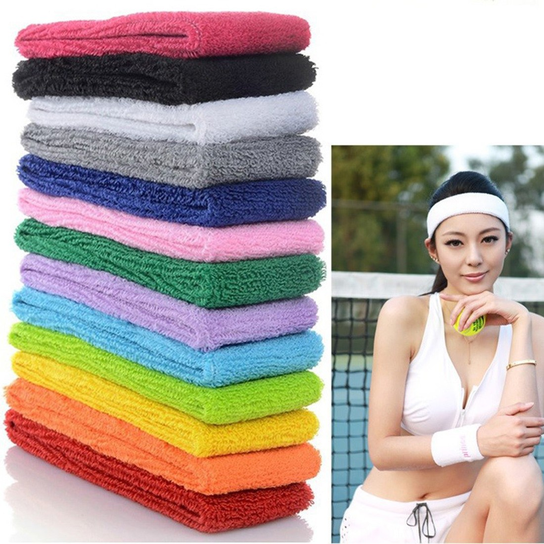 Sports Yoga Gym Stretch Headband Head Band Hair Band Sweat Sweatband Mens Women