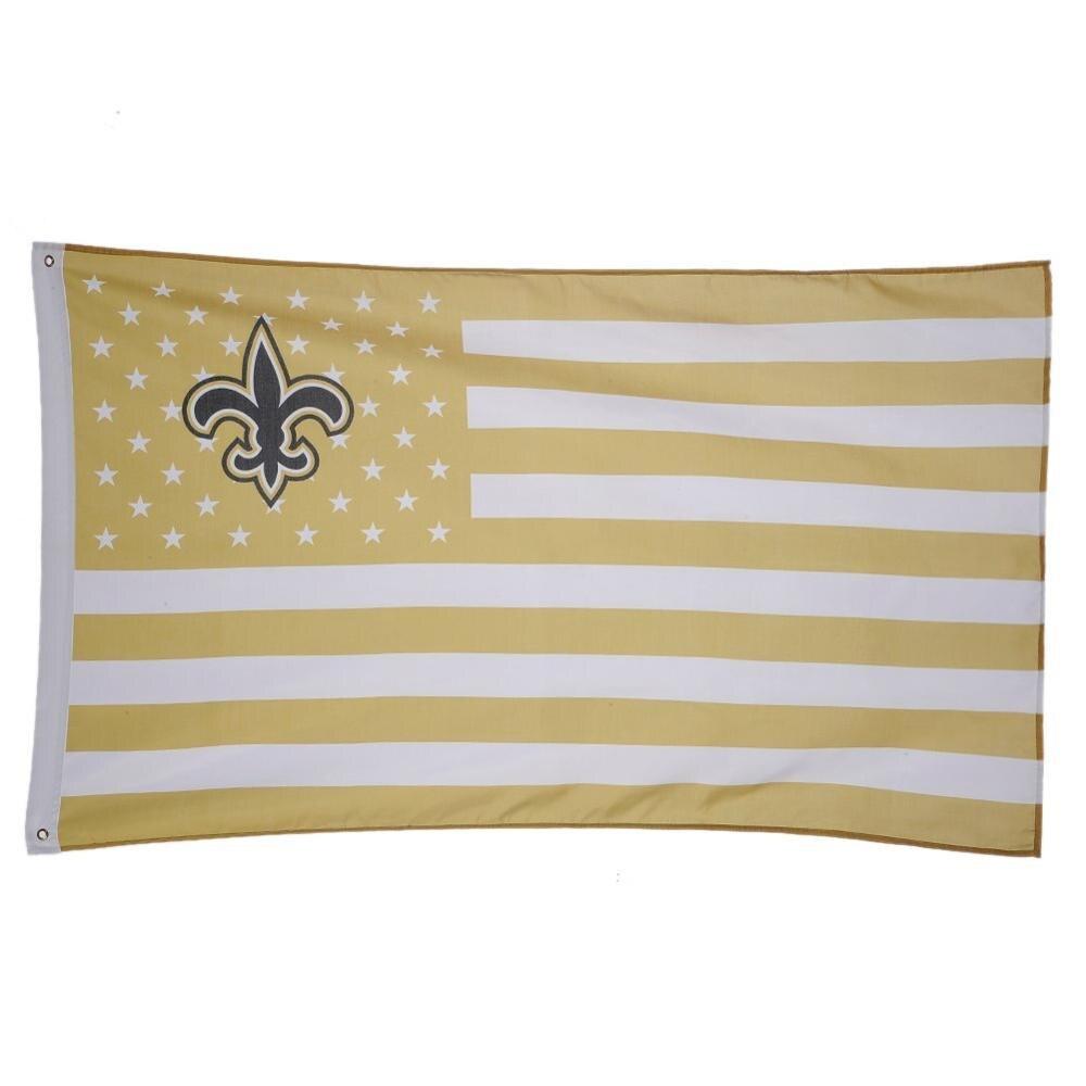 Américain New Orleans Saints USA Équipe Drapeau Avec Des Étoiles et Rayures  Bannière Pour Sport En Plein Air Décoration Drop Shipping 7815fed7e9b