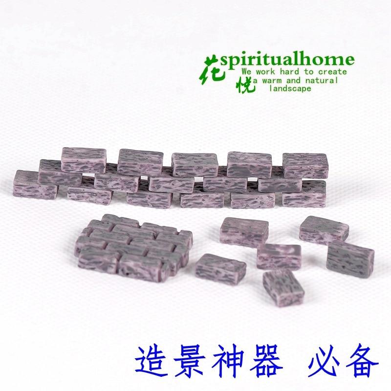 10pcs small brick/3pcs brick wall Micro landscape decoration moss brick decoration and potted succulents material