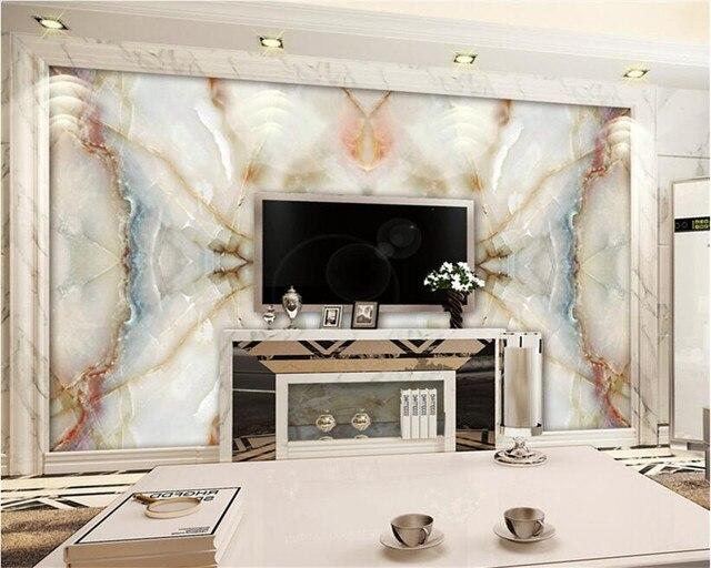 Steen In Interieur : Beibehang marmeren achtergrond d behang muurschildering hd marmer