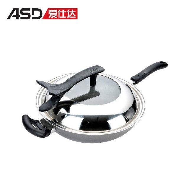 Asd 32cm coating healthy wok iron jd8332zk