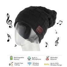 CHENFEC Warm Bluetooth Hat Knitted Winter Beanie mp3 Music Bluetooth cap Speaker Sport Women/Men Bluetooth Headset with screen