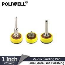 POLIWELL 1 inch 25 millimetri Hook & Loop Levigatrice Backing Pad Piastra di Levigatura Levigatura A Disco Rotante Ventosa Pad Lucidatura Rettifica utensili abrasivi