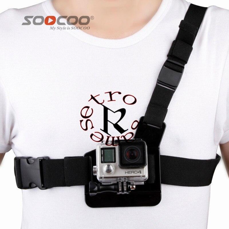 SOOCOO Xiao Mi Yi Gopro Hero 4/3/3 +/2 Accessoires Poitrine Ceinture Action Caméra Titulaire Sport Cam Strap Mount Réglable Go pro Hero4