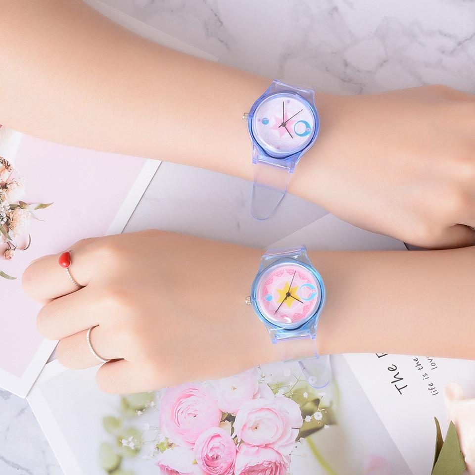 Transparent Clock Silicon Watch Women Sport Casual Quartz Wristwatches Novelty Crystal Ladies Watches Cartoon Reloj Mujer 2018