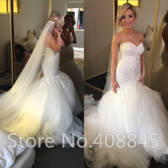 robe de mariage vintage lace romantic mermaid wedding dresses 2015 sexy off shoulder cheap plus size - Aliexpress Mariage