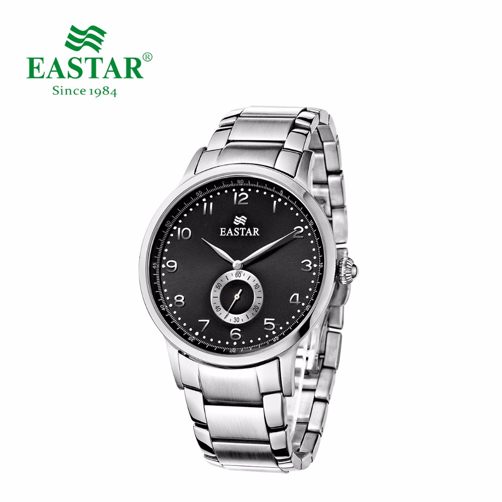 Eastar Japan Quartz Movement Watch Casual Luxury Stainless Steel Case And Brand Man Calendar Metal Dial Waterproof Wrist Watch tophill switzerland movement luxury watch classic sapphire glass women quartz wrist watch 316 stainless steel case watch ab1866