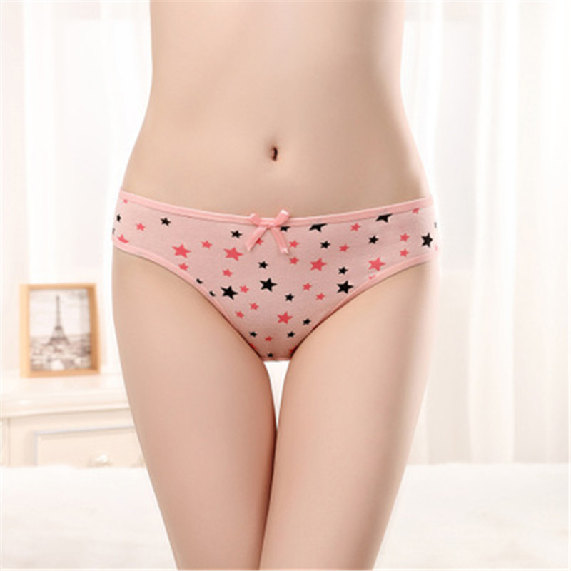 New Cotton Girls Panties Underwear Cute Stars Print Girl G String Teen Panties For Girls Briefs Cueca Infantil Child Thongs