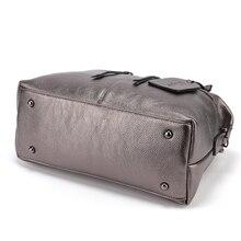 2018 Genuine Leather Boston Women Handbag Fashion Luxury Shoulder Bag Solid Zipper Women Pillow Bag Ladies Bag bolsos sac a main