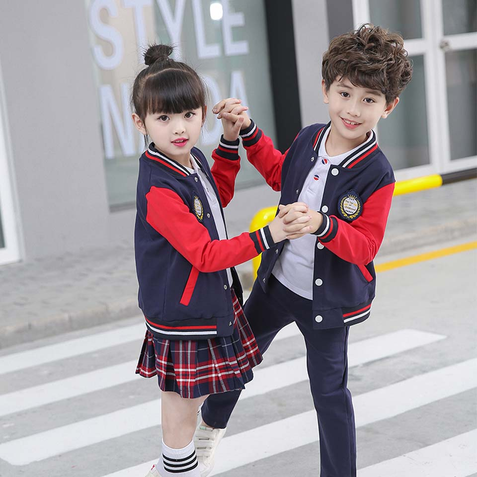 Boy Girl Tracksuit Autumn Spring Clothing Sets Children Boys Girls Fashion Clothes Kids Tops And Pants or Dresses 2 Pcs Suits