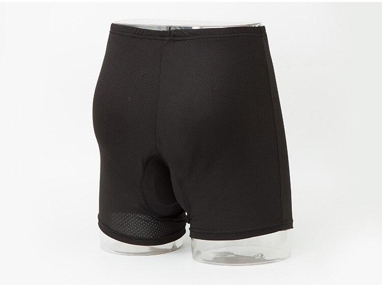 Мужские велосипедные шорты, анти-пот, эластичные, дышащие, быстросохнущие, одежда из силикагеля, черные, для горной дороги, велосипеда, обтягивающие шорты - Цвет: black