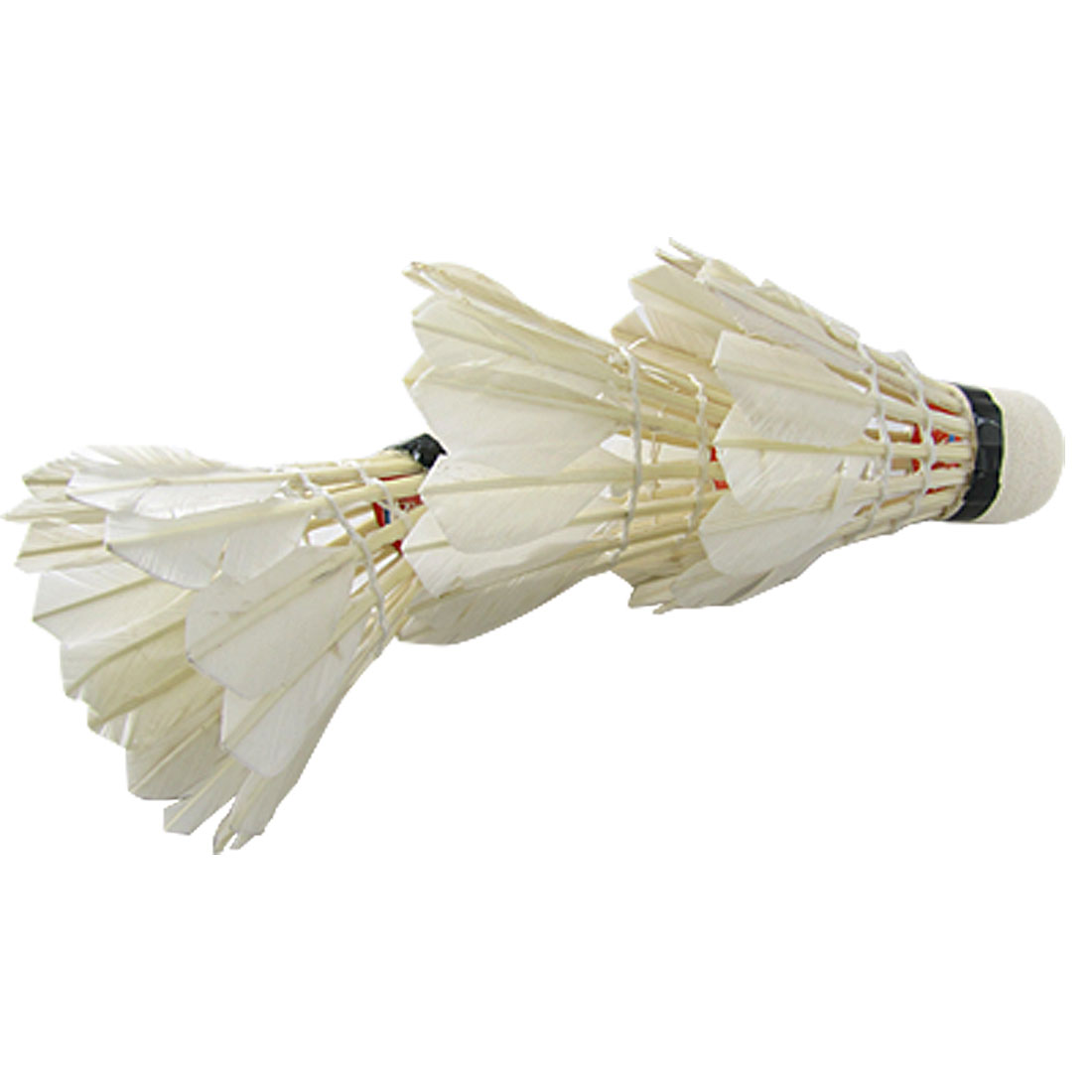 ELOS-White Goose Feather Badminton Shuttlecock 3pcs W Carboard Cylinder