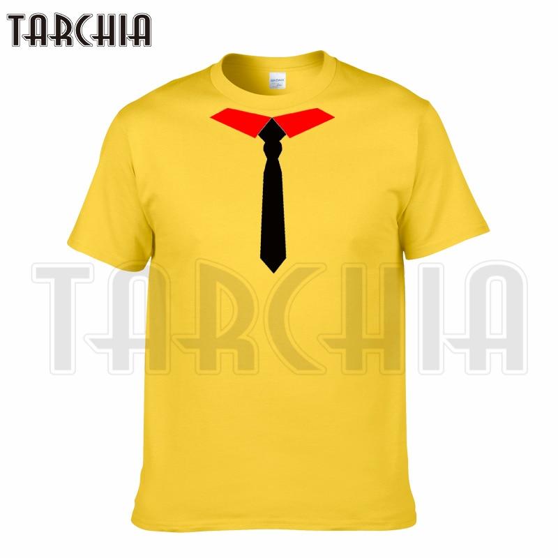 TARCHIA 2018 new summer funny brand t-shirt tie cotton tops tees men short sleeve boy casual homme tshirt t plus fashion free