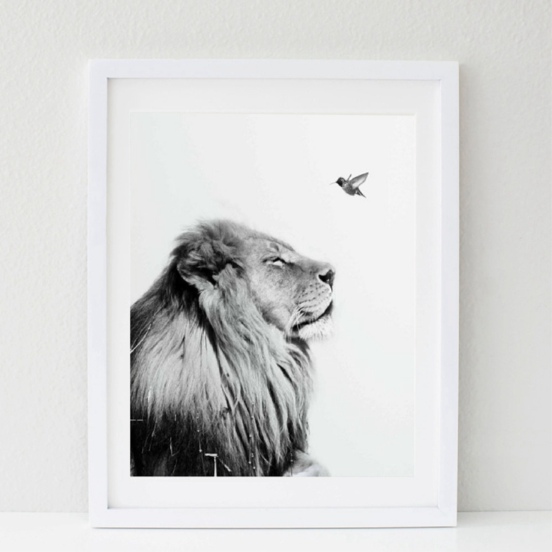 Black And White Lion Posters And Prints Wall Art Canvas Painting Wild Animal Lion Wall Pictures Nursery Art Decoration