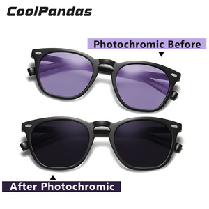 Image 2 - Fashion Intelligent Photochromic Sunglasses Women Polarized Driving Sun glasses Men gafas de sol mujer lunette de soleil femme