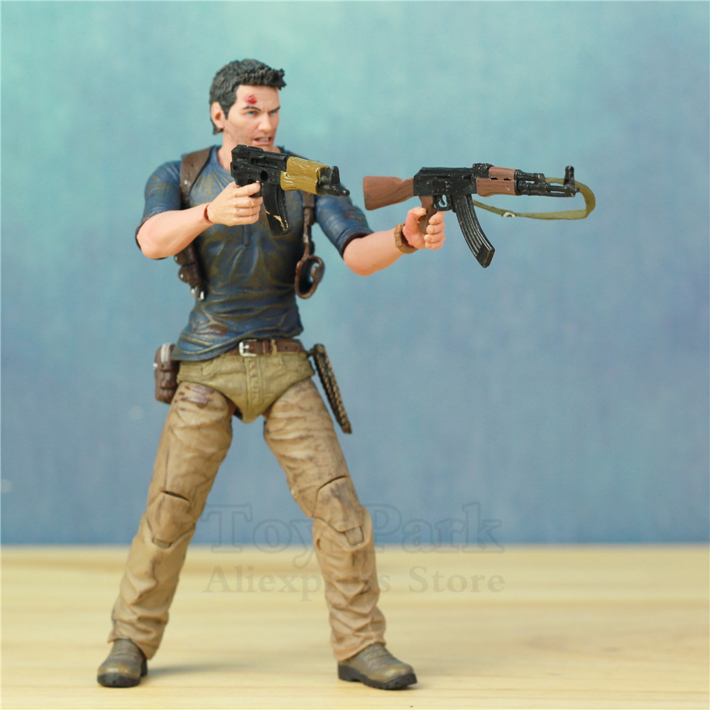 "Image 3 - Uncharted 4 A Thief's End Ultimate Nathan Drake 7"" Action Figure Doll Toys KO's NECA Video Game Sony PS4 Naughty Dog Collectible-in Action & Toy Figures from Toys & Hobbies"