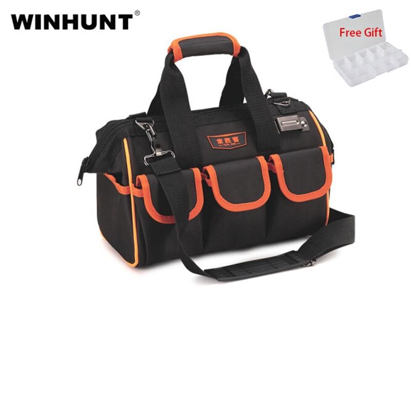WINHUNT Tools Bag Oxford Cloth Waterproof Travel Bags Top Wide Mouth Tool Bag Organizer Crossbody Tool Bag Electrician